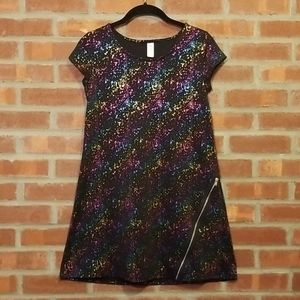 Justice Metallic Rainbow Dress Girl's Size 14